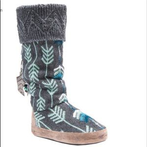 MUK LUKS Winona Slipper Boots With Arrows